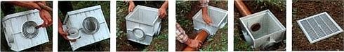 сборка дождеприемника - сливной водосток