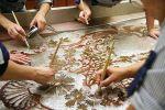 Реставрация стеклярусного панно