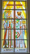 Имитация витража в церкви св. Варвары