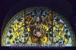 Один из 13 петербургских витражей, выполненный В.Д.Сверчковым