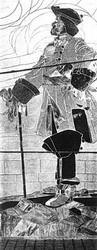 Панно Петр Великий, выполненное в мастерской братьев Франк