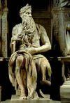 Статуя Моисея, выполненная Микеланджело Буонарроти