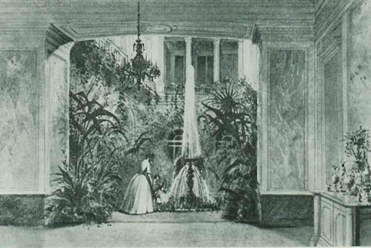 Зимний сад в доме Вонлярлярских