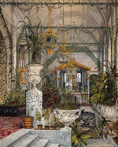 В Зимнем саду Малого Эрмитажа