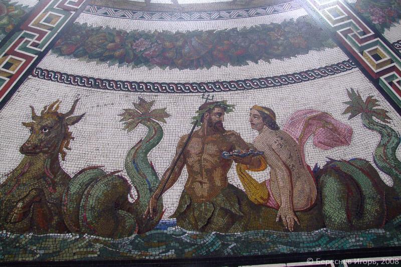Мозаичная композиция в полу