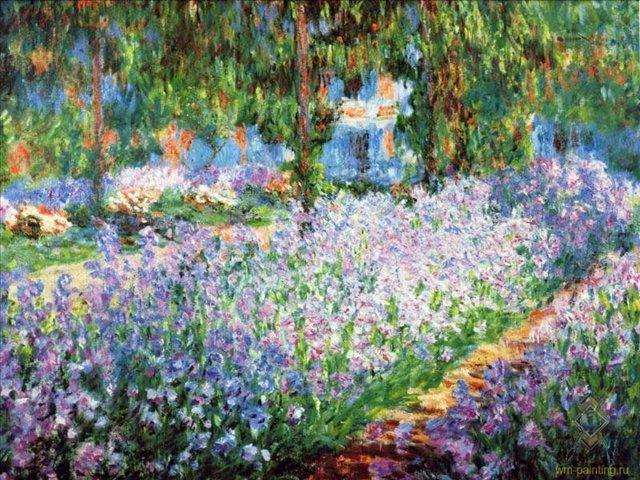 Зимний сад на полотне 2