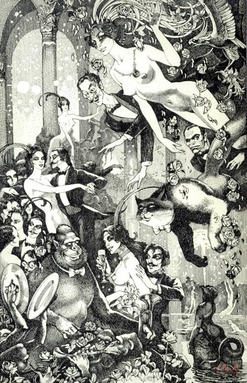 Иллюстрация из романа Булгакова - Мастер и Маргарита