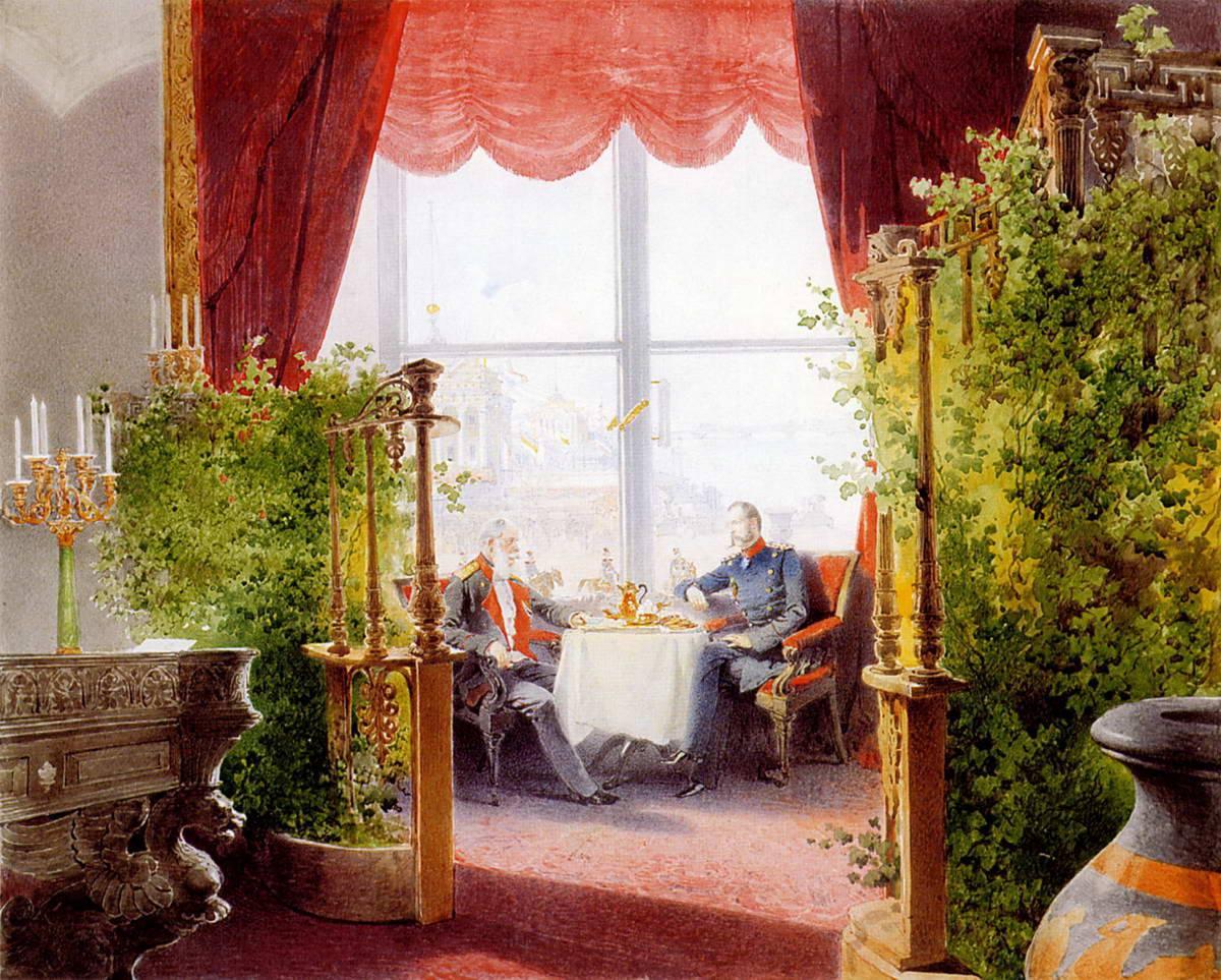 Картина художника М. Зичи