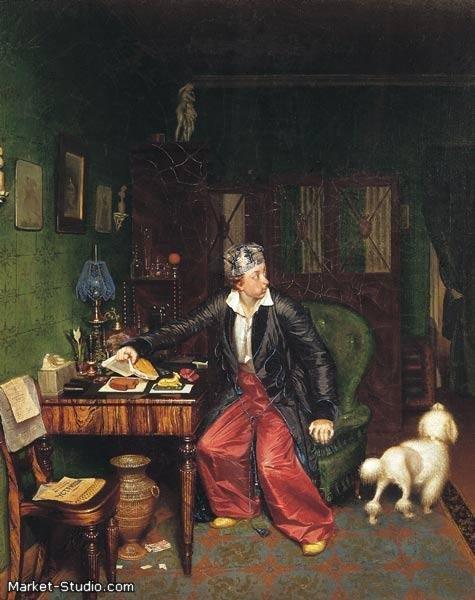 Картина П. А. Федотова - Завтрак аристократа