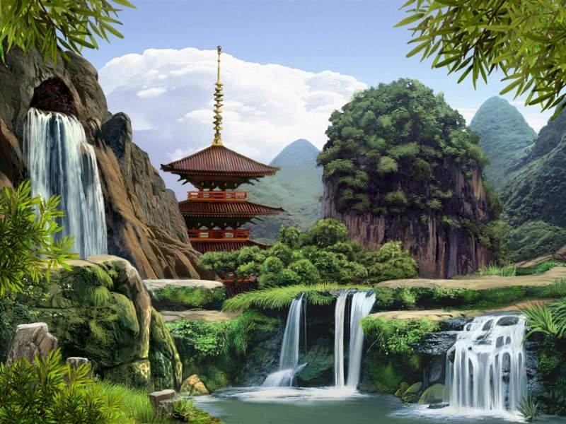 Горы в китайском парке