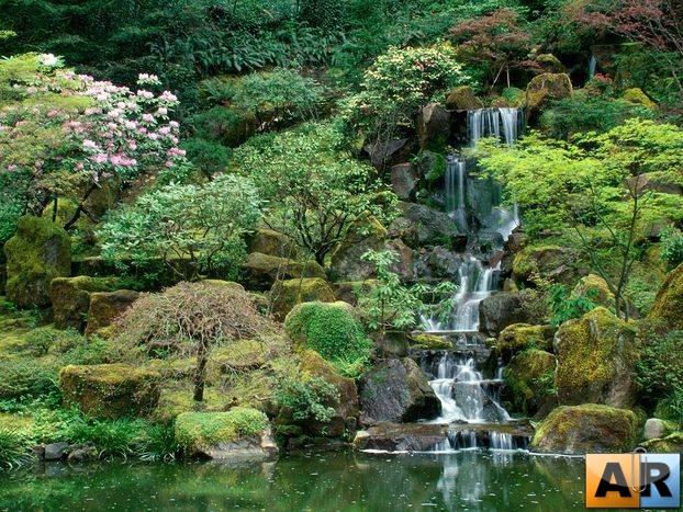 Горы в китайском саду
