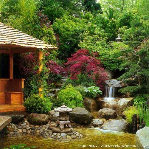 Богатая растительность китайского сада