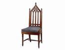 Деревянный стул в готическом стиле