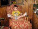 В кресле-качалке
