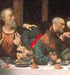 Фрагмент фрески Тайная вечеря 4