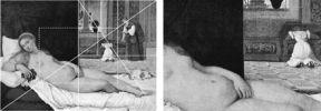 Фрагмент картины Венера Урбинская