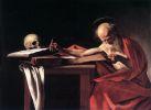 Картина Караваджо Святой Иероним за книгой