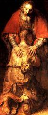 Картина Возвращение блудного сына. Фрагмент