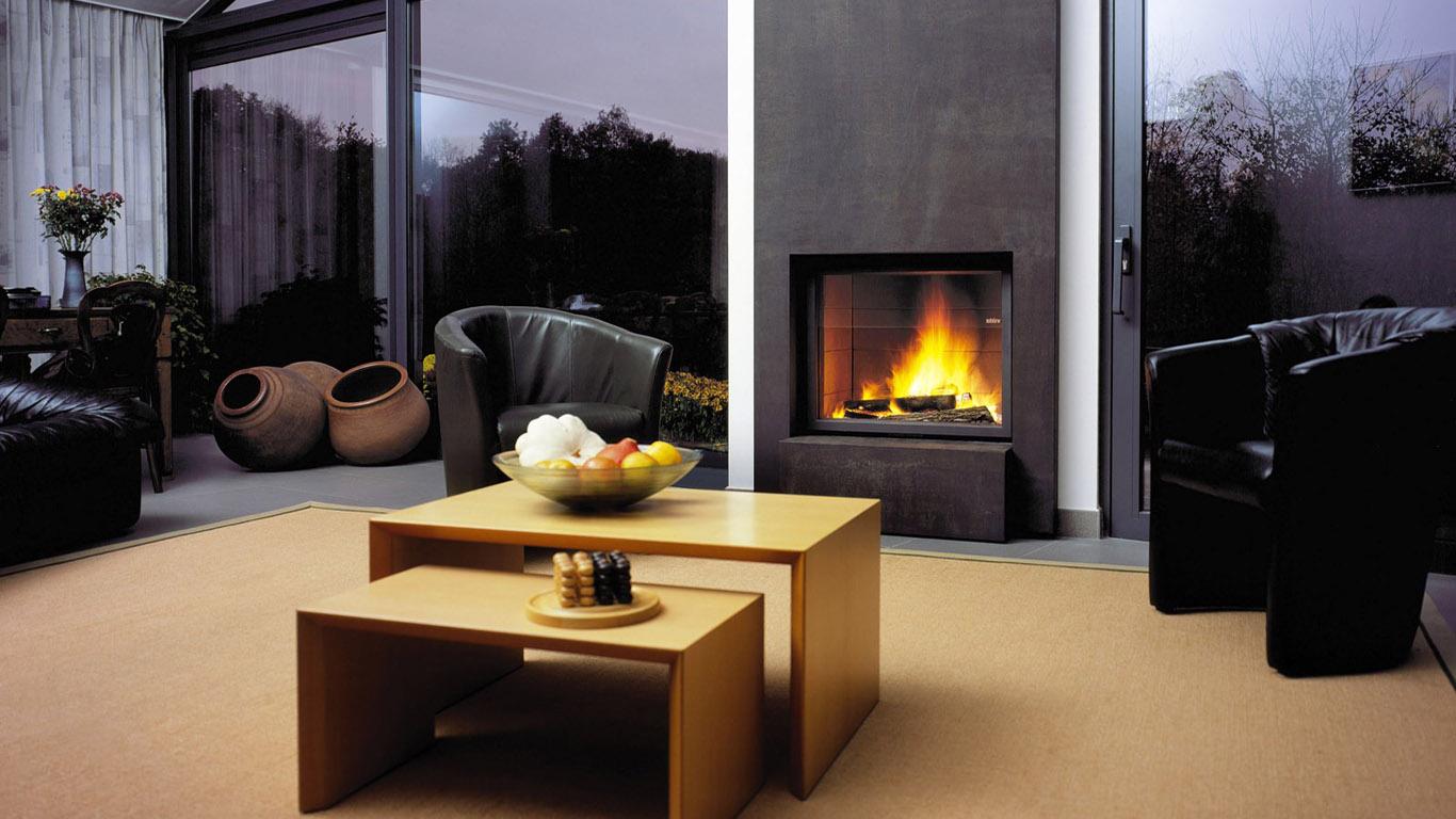 Дизайн интерьера с камином фото