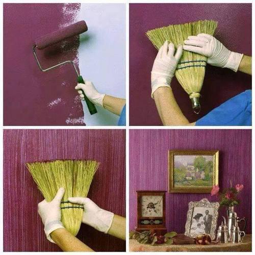 Идея декорирования стены своими руками