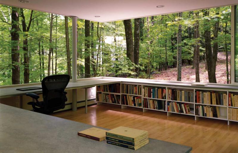 15 Фантастических дизайнов домашней библиотеки для любителей чтения