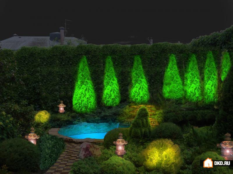10 Идей для освещения сада
