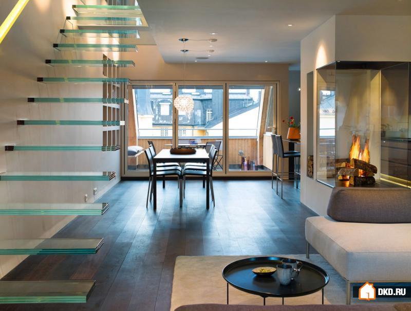 16 Креативных дизайнов «парящих» лестниц для современного дома