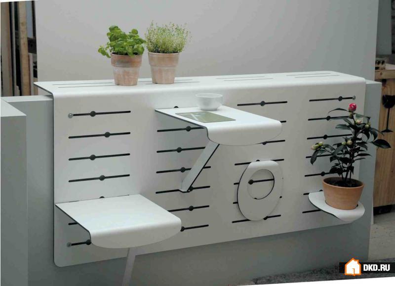 15 Идей компактной мебели и ящиков для растений для Вашего балкона