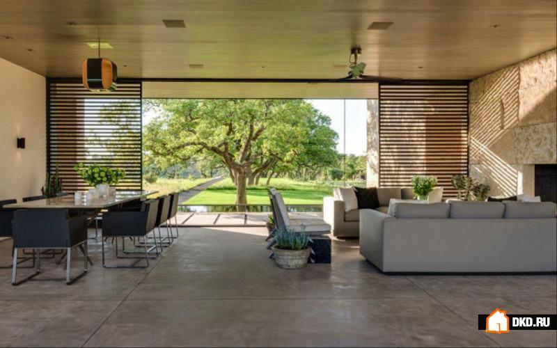 Современное ранчо в Техасе. Lake Flato Architects.