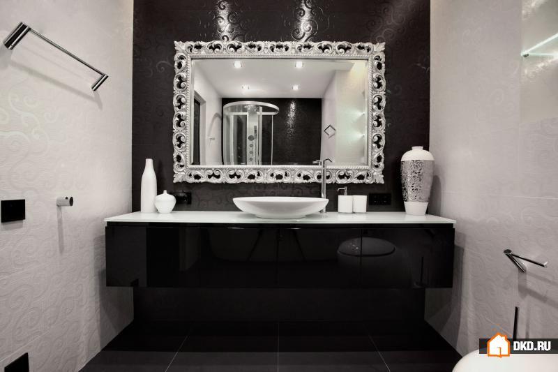 Черная ванная комната. 10 Лучших дизайнов