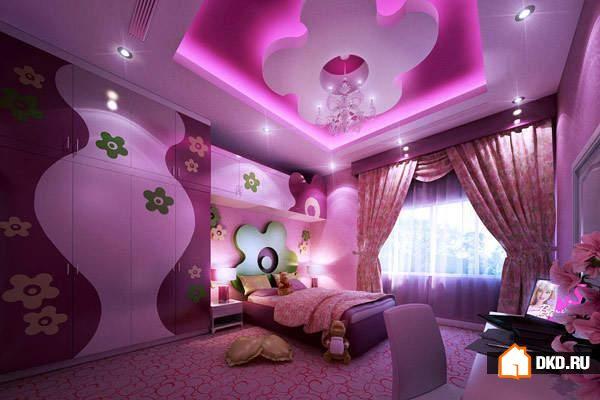 Дизайн потолков в детскую