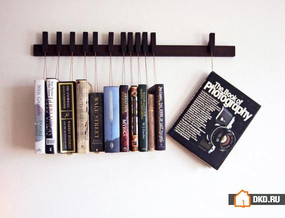 19 Самых необычных способов красиво разместить книги