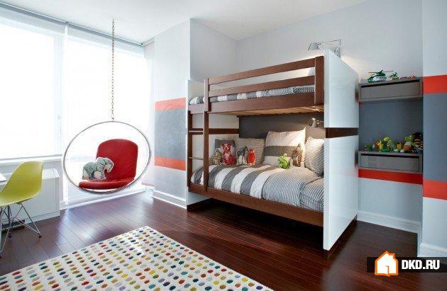 19 Забавных современных дизайнов детских комнат, в которых Ваши дети полюбят играть