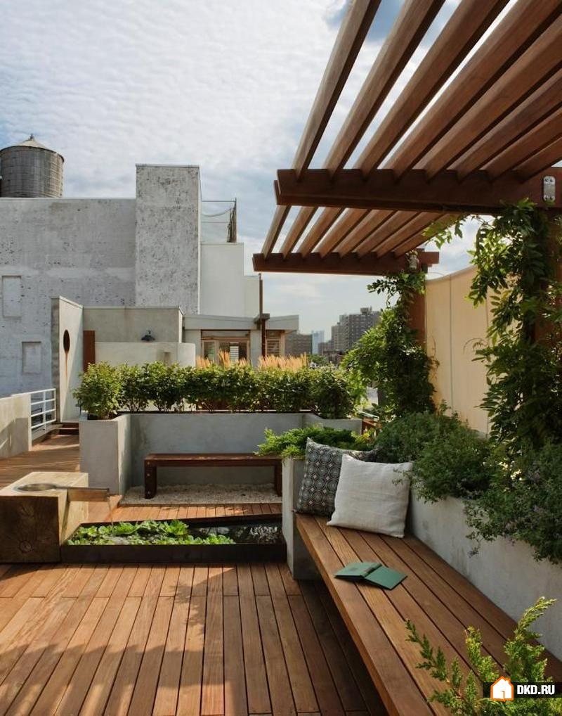 25 вдохновляющих дизайнерских идей террас на крыше , дизайн .