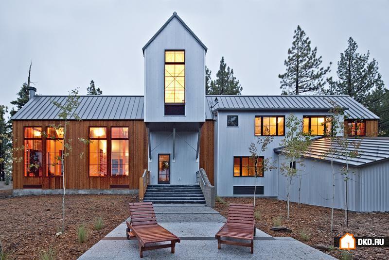 Интересный пример современной архитектуры в горах Калифорнии