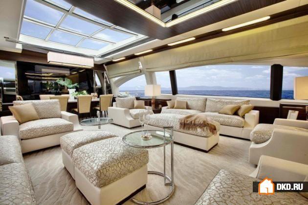 15 Экстравагантных дизайнерских идей интерьера яхт