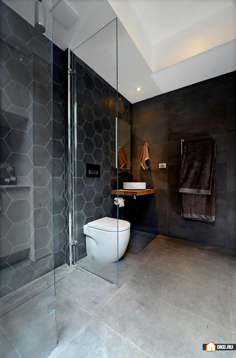 Hexagon tiles bathroom
