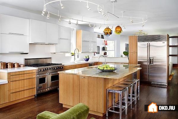 16 Подвижных вариантов освещения для кухни