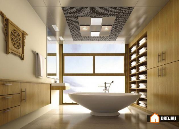 17 Экстравагантных дизайнов потолков в ванную, в которые Вы сразу влюбитесь