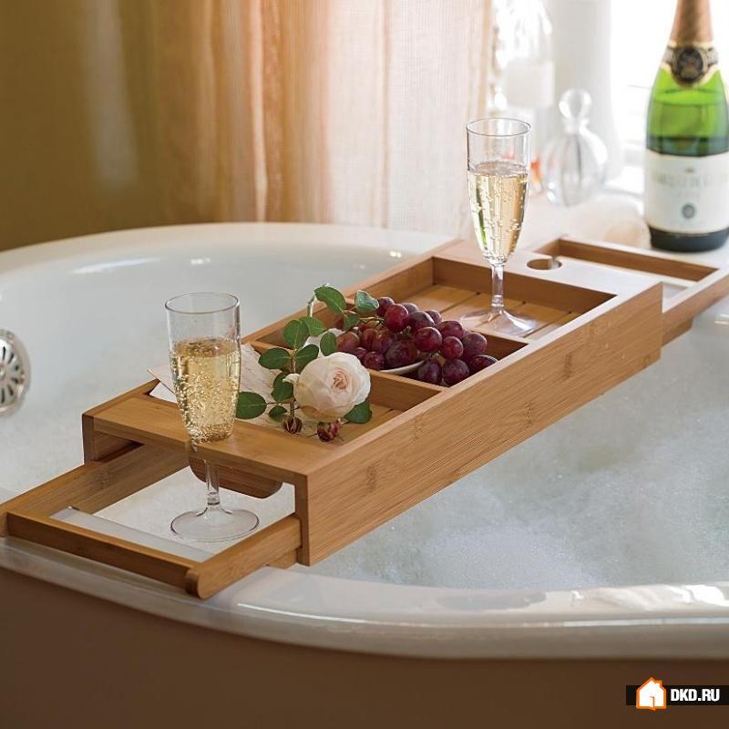 22 Удобных столика на ванну для качественного расслабления