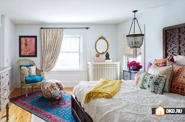 16 Фантастических эклектичных дизайнов спальни, которые подарят Вам креативные идеи
