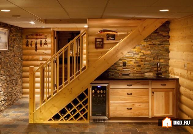 30 Полезных идей по использованию и декорированию пространства под лестницей