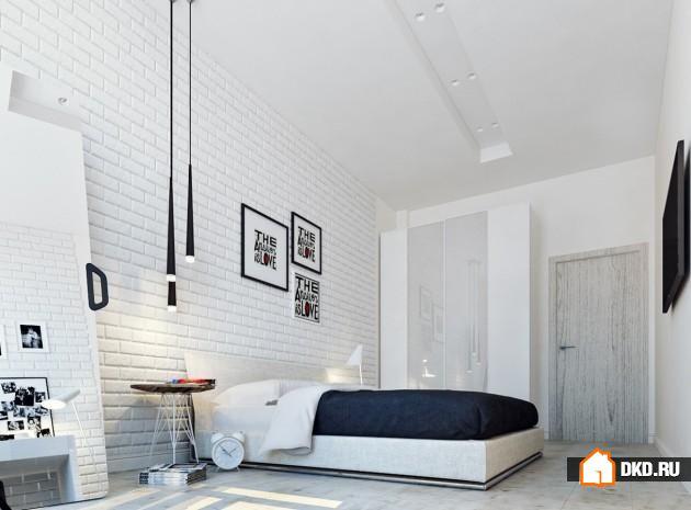 16 Дизайнов стен с белым кирпичом для стильного дома