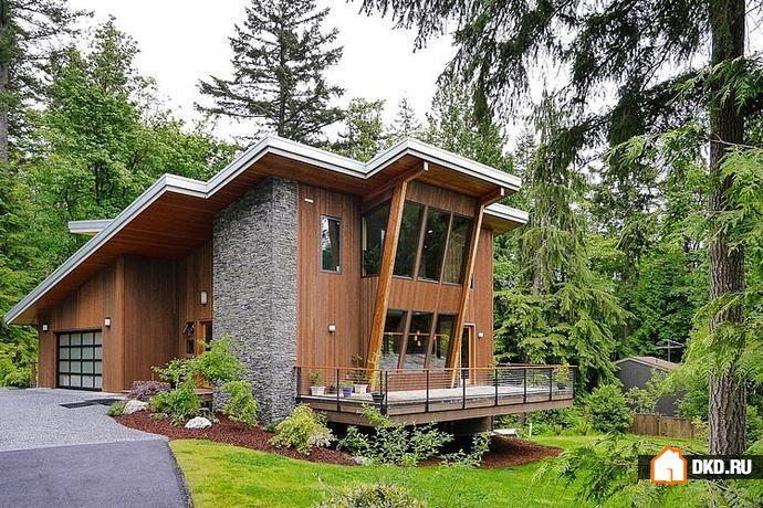 Современный зеленый дом от Steve Moe Design