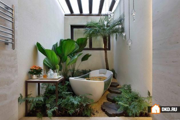 20 Ванных комнат в тропическом дизайне обеспечат Вам уют и спокойствие