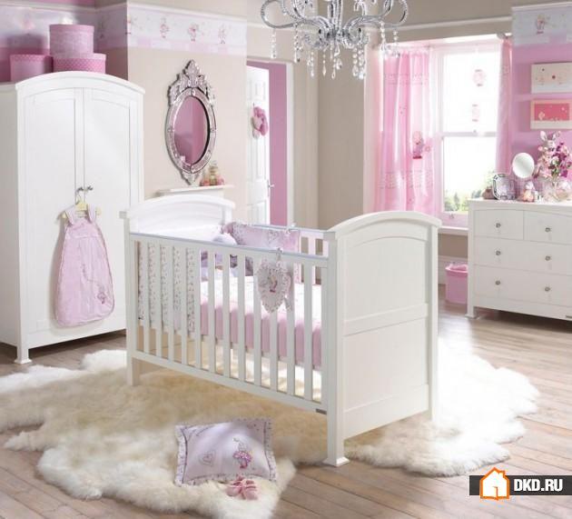 Декорируем детскую комнату для новорожденной девочки