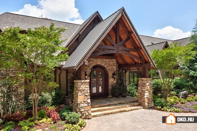 18 Манящих дизайнов входа в дом в деревенском стиле
