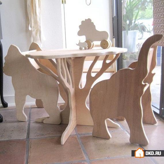Декор мебели из фанеры