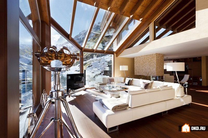10 Элитных лыжных шале для великолепных зимних каникул