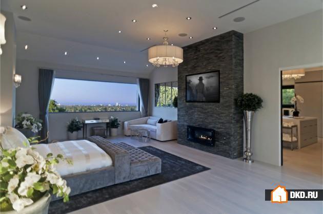 15 Величественных спален с каминами